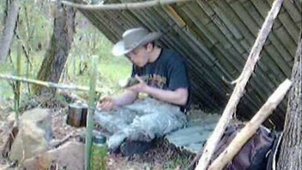 A Bushcraft Bamboo Shelter
