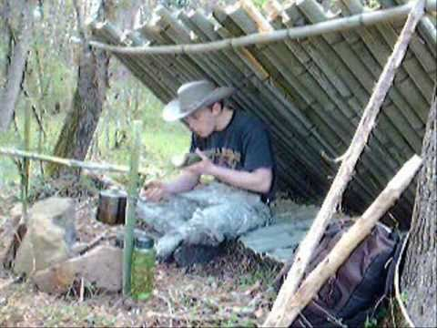 A Bushcraft Bamboo Tiny House