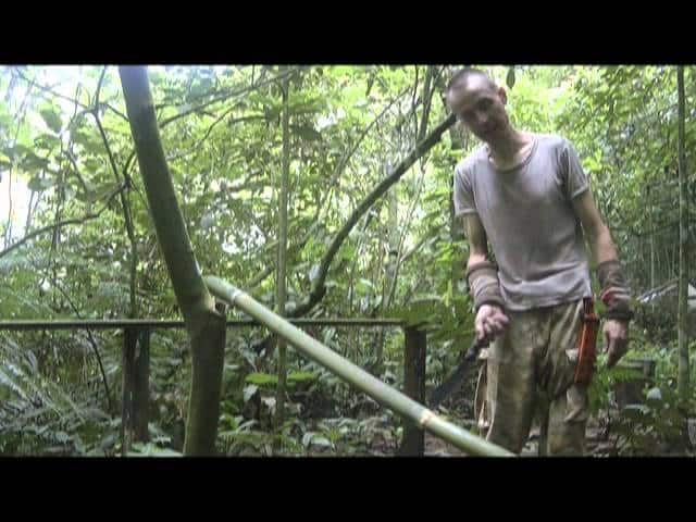 Jungle survival shelters: working with bamboo