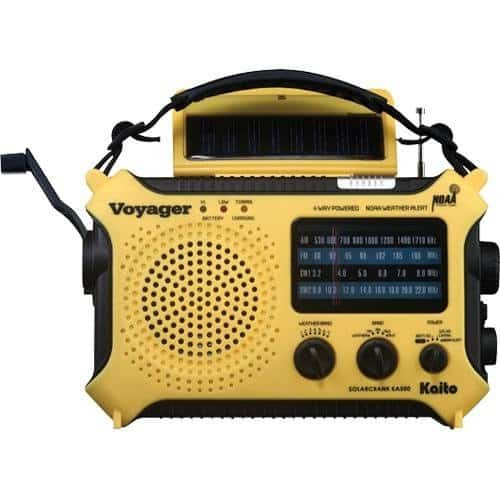 Kaito KA500 5-way Powered Solar Power,Dynamo Crank, Wind Up Emergency Radio