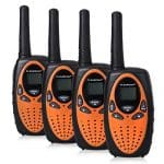Floureon 22 Channel FRS/GMRS 2 Way Radio UHF Handheld Walkie Talkie 4 Pack