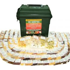Heritage Survival Seed Vault 25 Year Storage Life. Fruit Herb and Vegetable Heirloom Seeds. 85% Germination Success For Doomsday Preparedness Peace of Mind. Emergency Supplies in a .30 Cal Ammo Box.