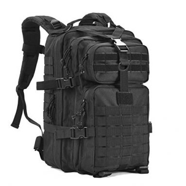 Military Tactical Backpack,Small Army Assault Pack Molle Bug Out Bag Backpacks Rucksack Daypack with Tactical US Flag Patch Black