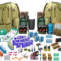 """4 x Person 72hr """" Bug Out Bag"""" Coyote"""