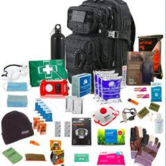 """One person 72hr Emergency """" Bug Out Bag"""" Black"""